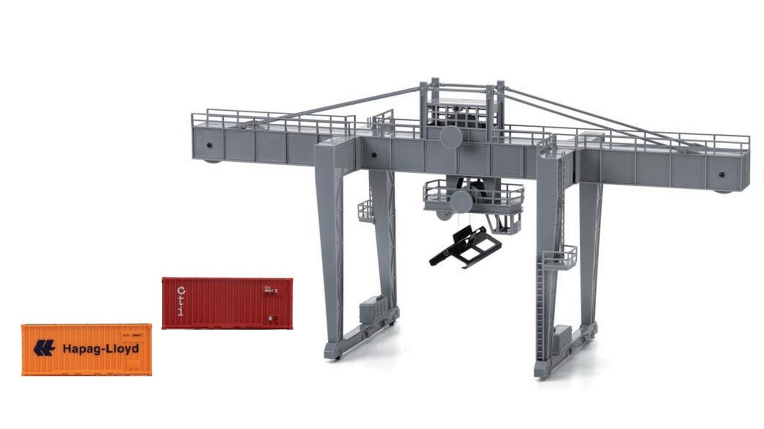 Container Crane with 2x 20ft Containers