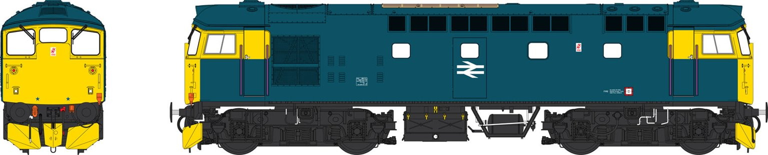 Class 26 BR Blue unnumbered (dual braked)