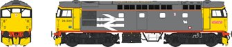 Class 26 Railfreight Red Stripe 26025 (orange cantrail stripe) with Eastfield dog logo - Weathered