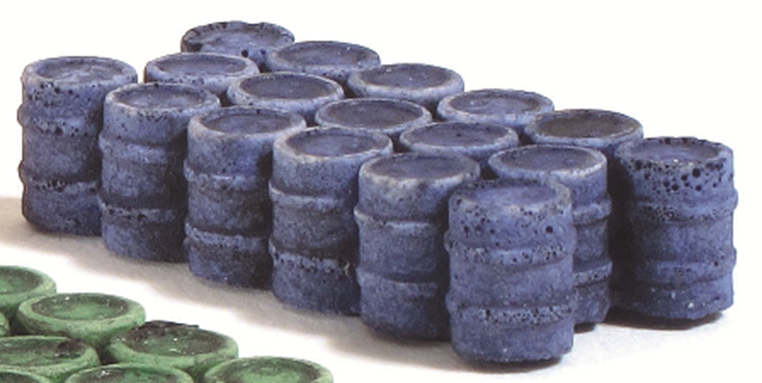 Oil/Chemical Drums (Grouped) - Blue