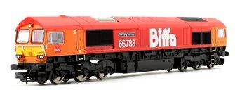 Class 66 783 'The Flying Dustman' GBRf Biffa Co-Co Diesel Locomotive