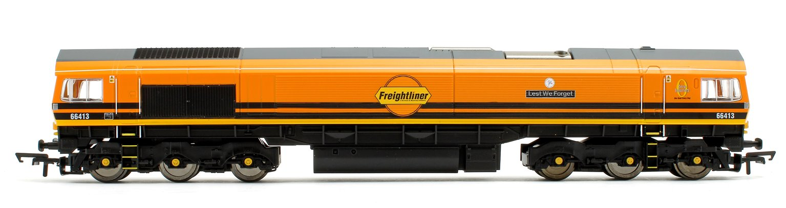 Class 66 413 'Lest We Forget' G&W/Freightliner Co-Co Diesel Locomotive