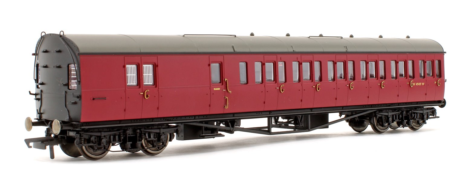BR Collett 57' Bow Ended D98 Six Compartment Brake Third (Left Hand) W4949W - Era 4