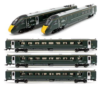 GWR IEP Class 800/0 Driving Trailer Train Pack + Three Car Coach Pack