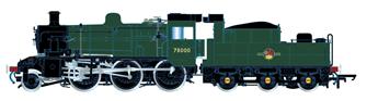 Standard 2MT BR Green (Late) 2-6-0 Steam Locomotive No.78000