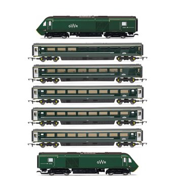 GWR Great Western High Speed Train HST Complete Seven Car Set with TTS Sound!