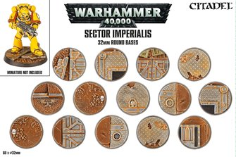 Warhammer Sector Imperialis 32mm Round Bases