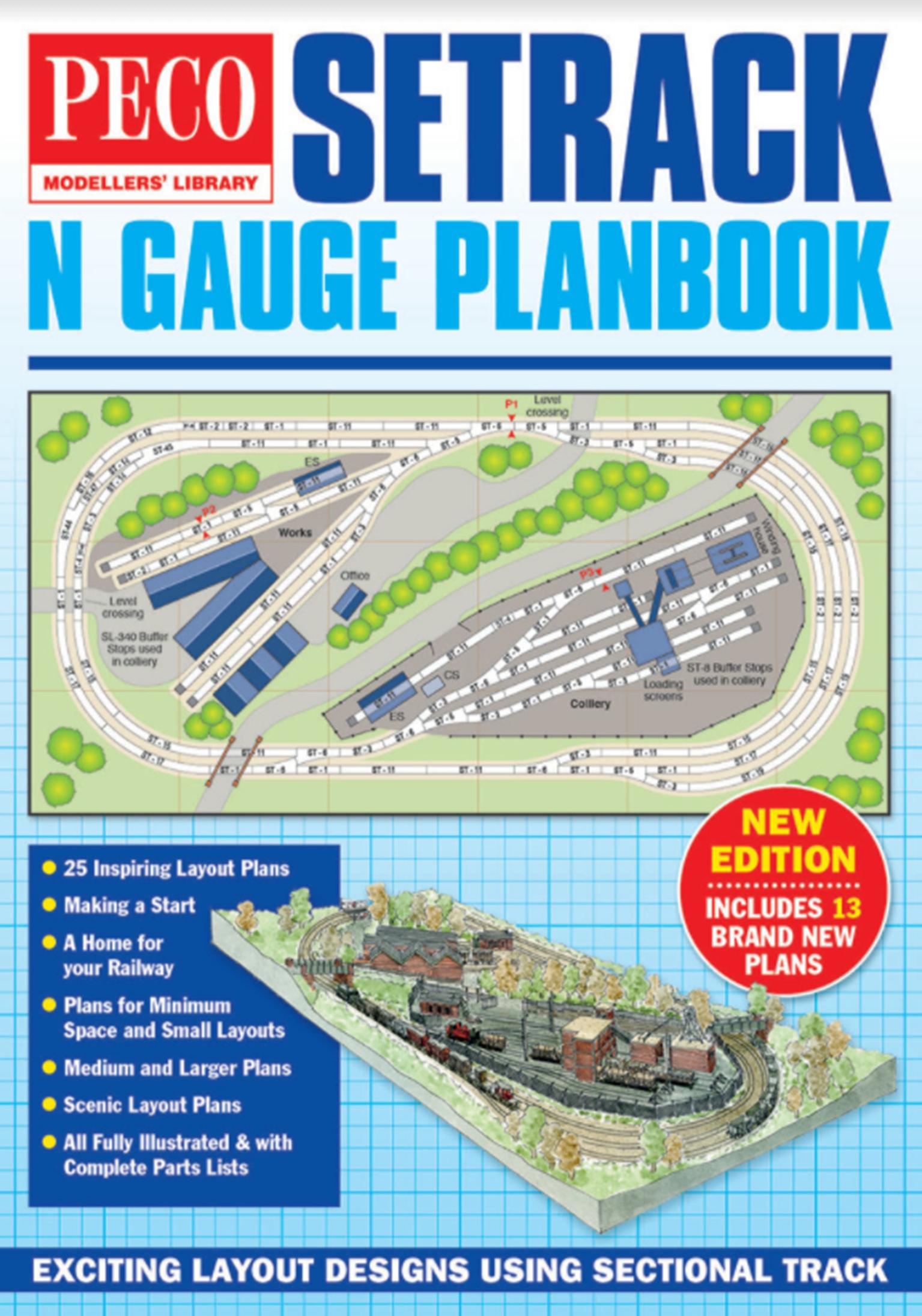 IN-1 PECO Setrack N gauge Planbook