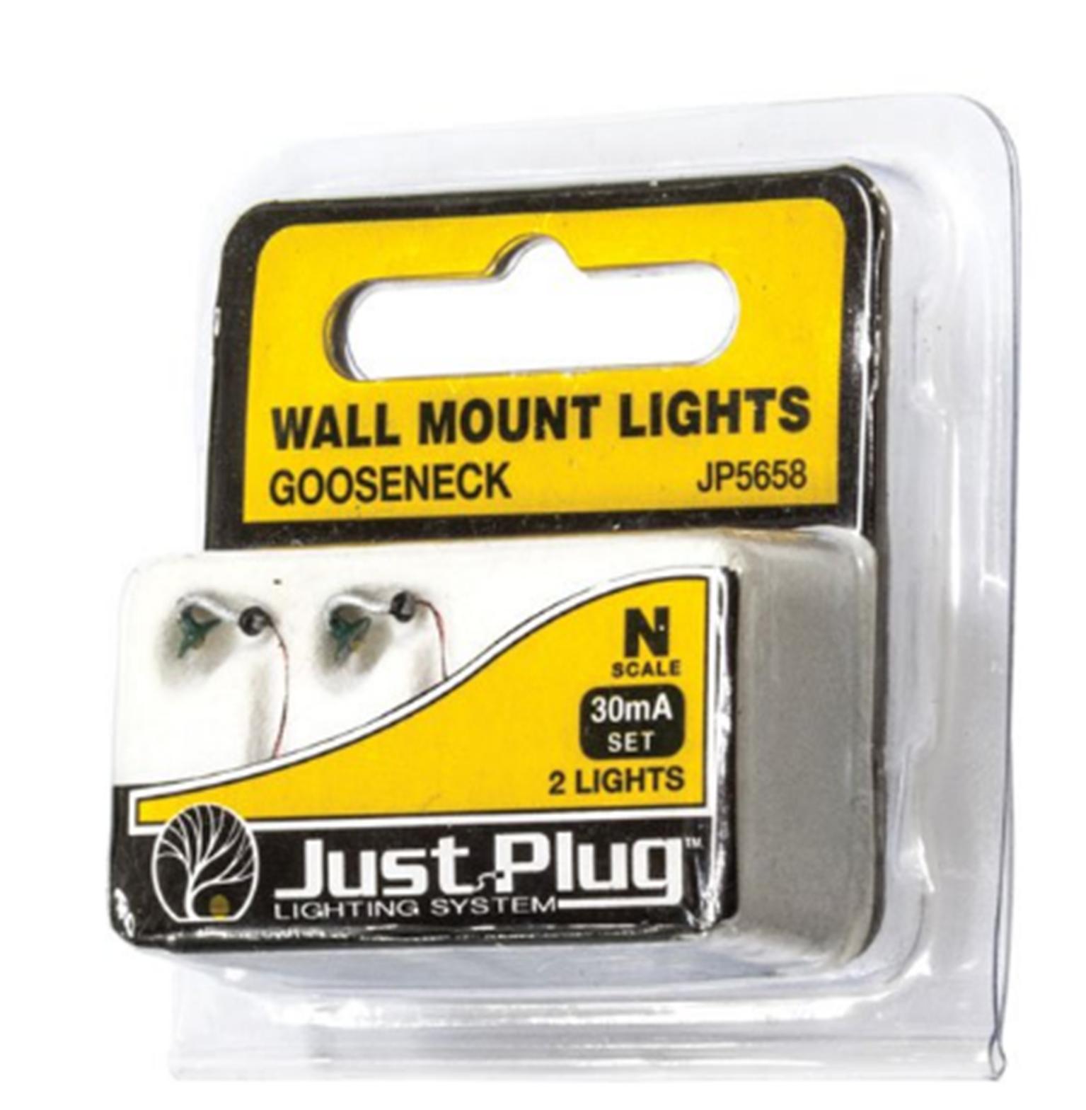 Gooseneck Wall Mount Lights - N Scale