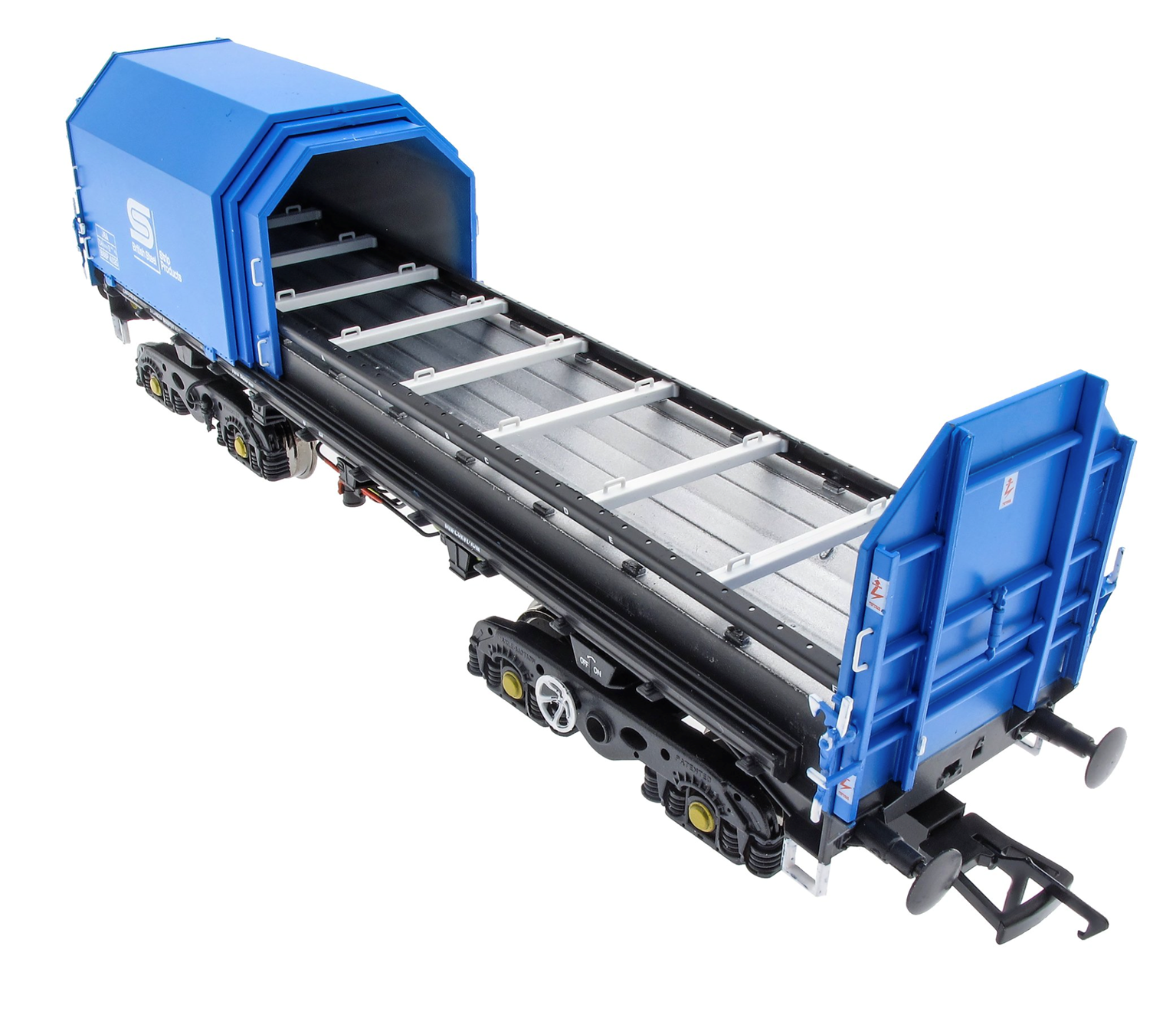 JSA Bogie Covered Steel Wagon Twin Pack - British Steel 2 - BSSP 4036, BSSP 4048