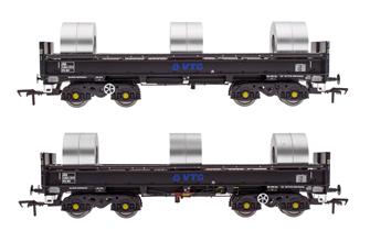 JSA Bogie Open Steel Wagon Twin Pack - VTG 1 - VTG 4023, VTG 4041