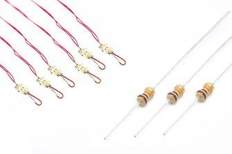 NANOlight (w/resistors) 6x (2-Colour) ProtoWhite/Red