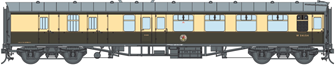BR WR Chocolate & Cream BSK MK1 Coach W34154 (DCC Fitted)