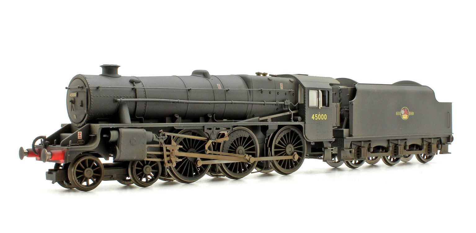 BR (Late) Black 5 Class 4-6-0 Steam Locomotive No.45000 DCC with TTS Sound! - Lightly Weathered