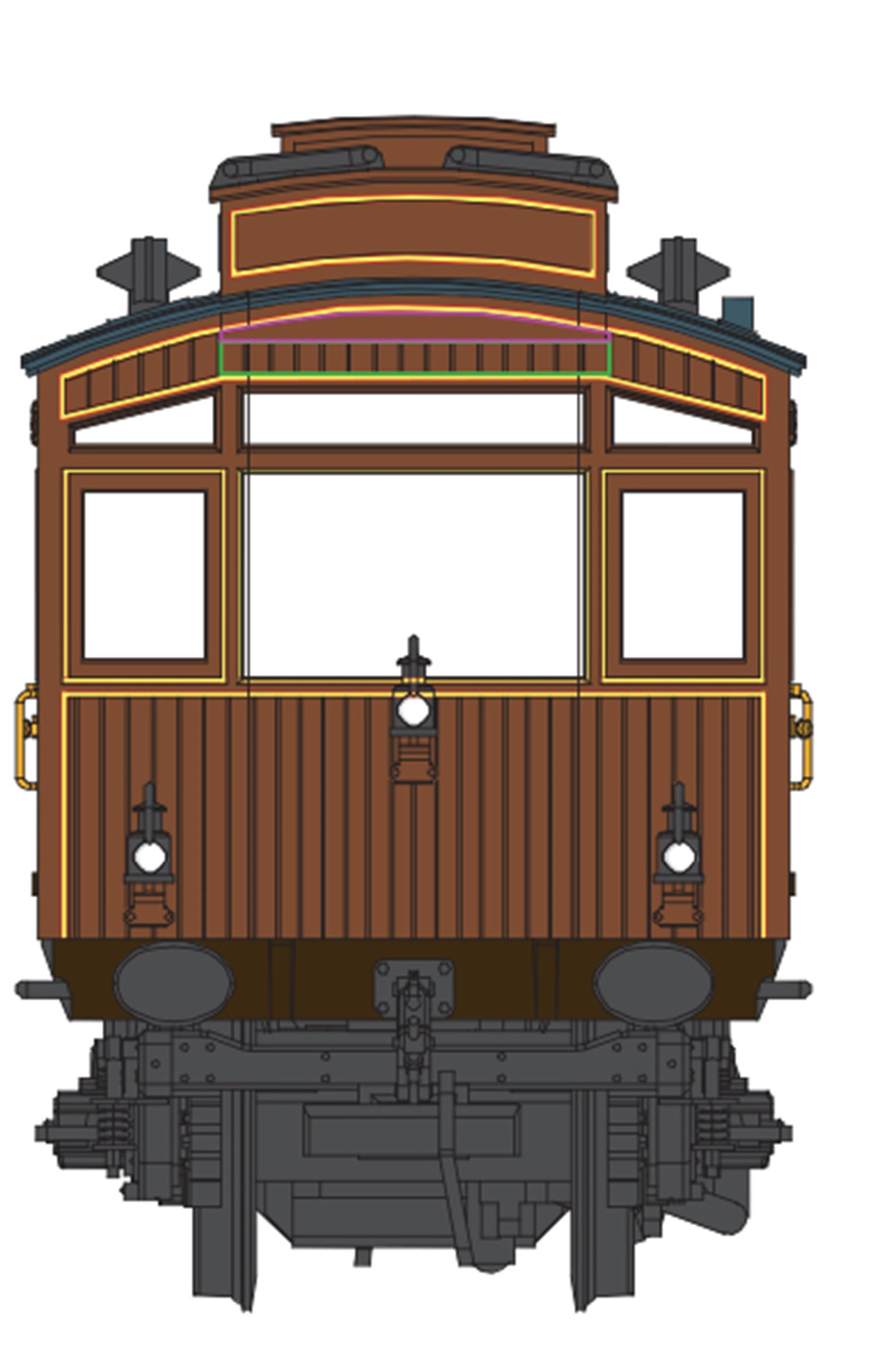 LNER Brown Electric Autocar No.3170  (1923-31)