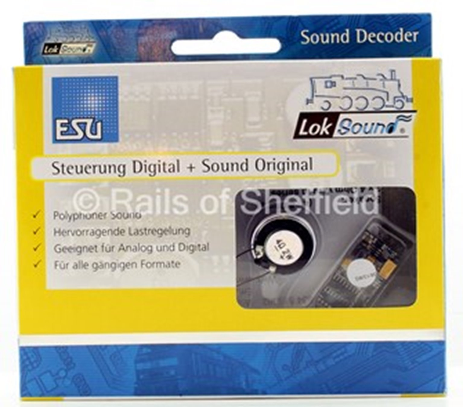 V4.0 Steam A4 Pacific Class Union of South Africa Digital Sound Decoder with Speaker - 21 pin