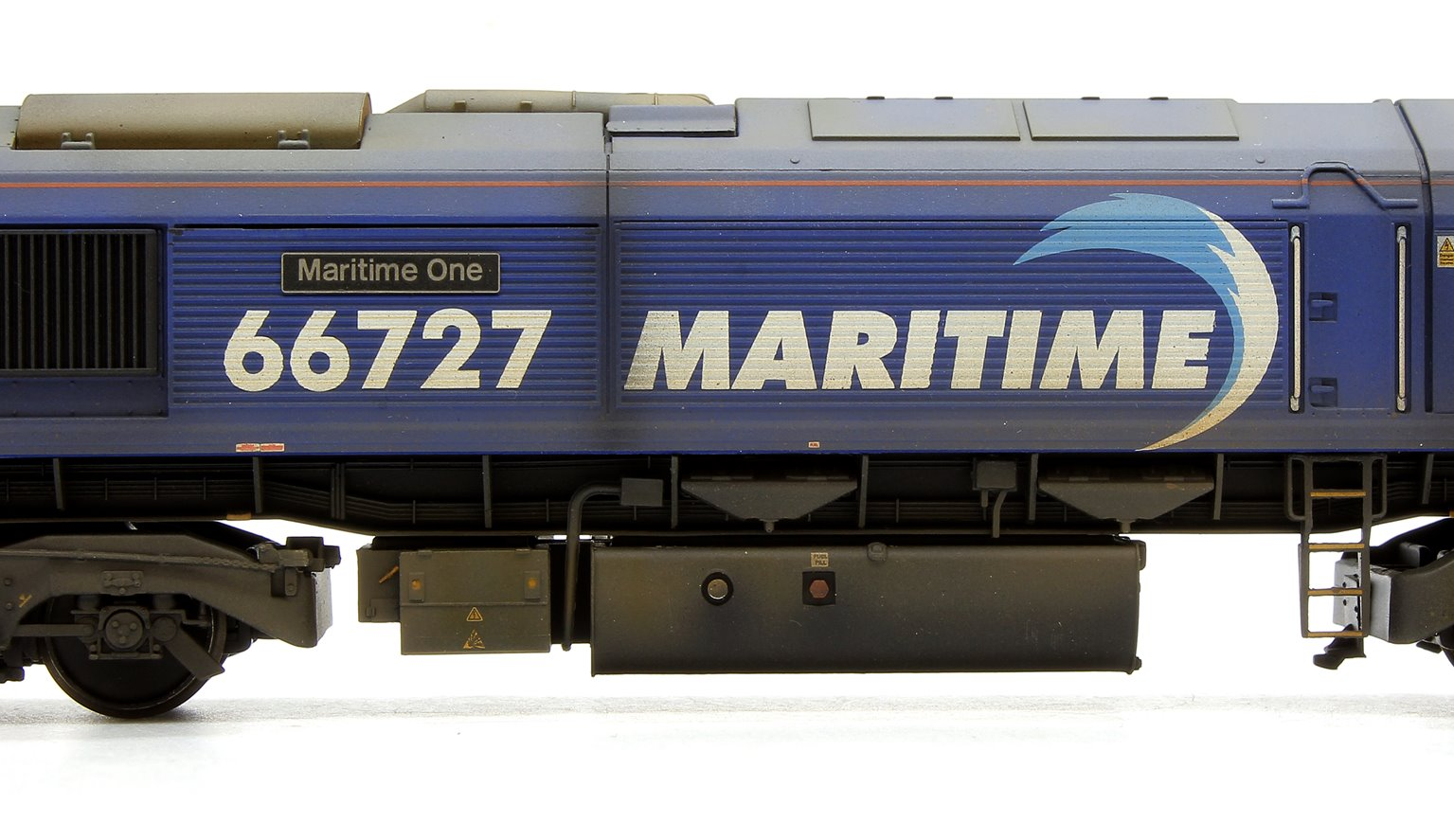 Class 66 727 'Maritime One' GBRf Maritime Diesel Locomotive Weathered