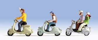 Scooter Riders (3) Figure Set