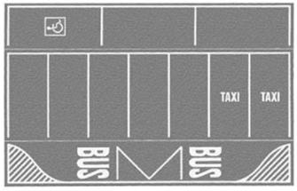 Grey Car Park 22 x 14cm