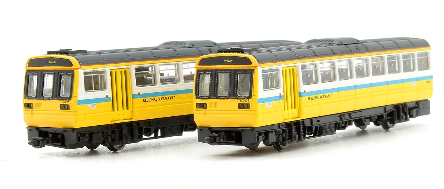 Class 142 021 Regional Railways Tyne & Wear PTE 2 Car Pacer Unit - DCC Fitted