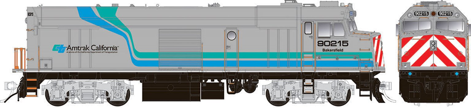 "Amtrak ""Cabbage"" NPCU – Amtrak California Scheme #90218 - DC/Silent"