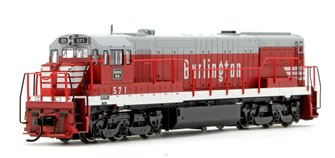 Chicago Burlington & Quincy GE U28C DIesel Locomotive No.571