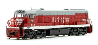 Chicago Burlington & Quincy GE U28C Diesel locomotive No.563