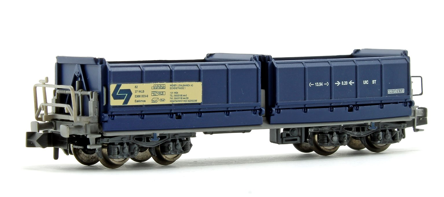 Set of 4 N Gauge Blue Tipper Wagons (WLB Ep.V)