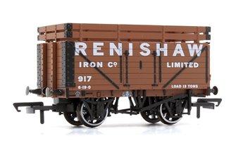 7 Plank Mineral Wagon - Renishaw Iron Co 917 (2 Coke Rails)
