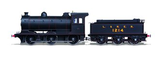 Class J27 BR L&NER (Red Lining) 0-6-0 Steam Locomotive No.1214 DCC SOUND