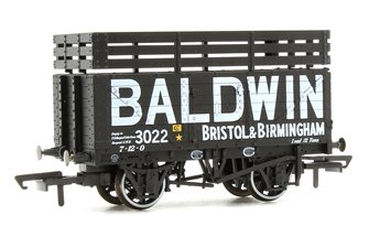 7 Plank Mineral Wagon - Baldwin 3022 Black (3 Coke Rails)