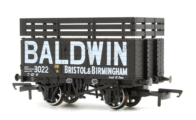 7 Plank Mineral Wagon - Baldwin 3022 Black (3 Coke Rails)
