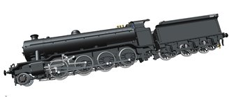 Class O2/4 'Tango' LNER black No. 3485 with low running plate, side window cab and GNR tender, short chimney