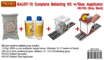 Ballasting Kit w/Ballast Glue Applicator (Grey Blend)