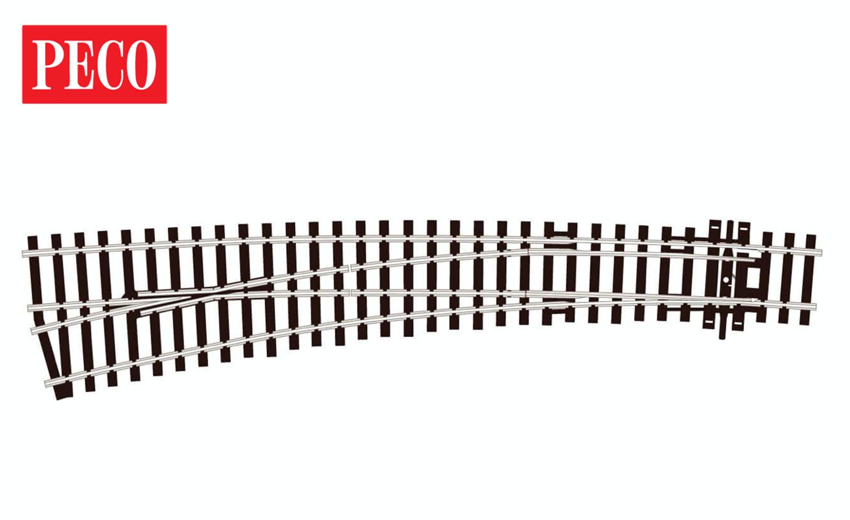 SLE87 Left hand curved point electrofrog.