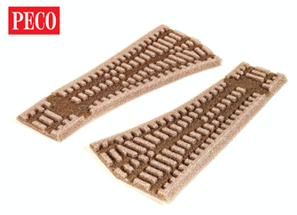 No.2 Radius Right Hand Setrack Turnout Ballast Inlay / Underlay (Pack of 2)