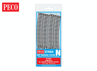 ST3016 Setrack No.3 Standard Curve Track Radius 3 298.5mm (8)