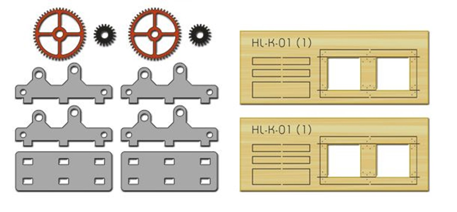 2 X Machine Parts (Gears) (Kit)