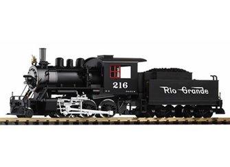 D&RGW Mogul Steam Loco No.216 & Tender (Analogue-Smoke)