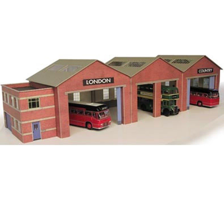 Pn125 bus garage kit n gauge by metcalfe models rails for Garage ad buc