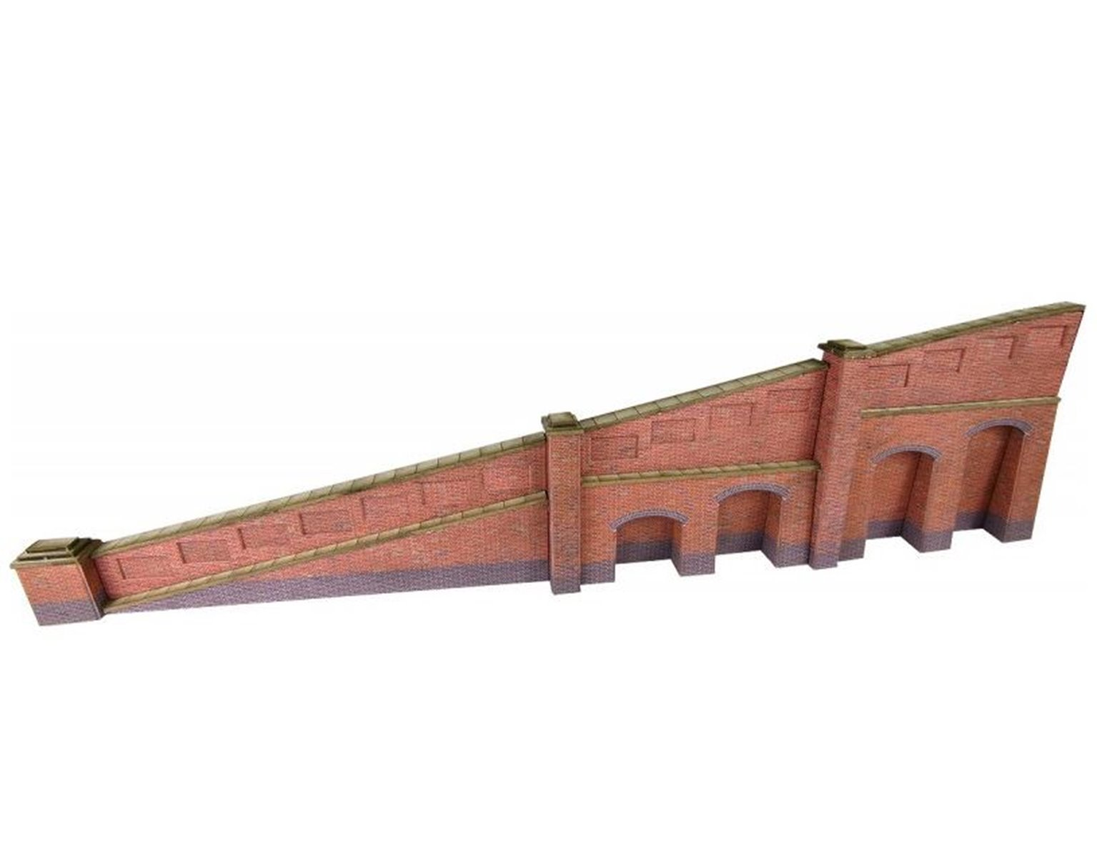 Metcalf Brick Tapered Retaining Wall N Scale
