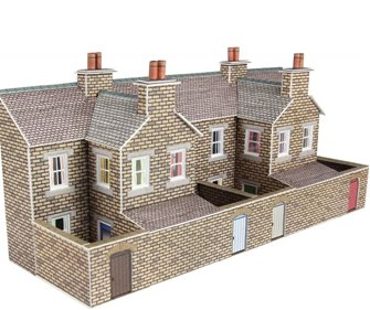 PN177 N Scale Low Relief Stone Terraced House Backs