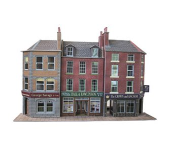 Low Relief Pub & Shops Building Kit