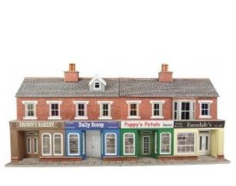 Low Relief Terraced Shop Fronts - Brick Kit