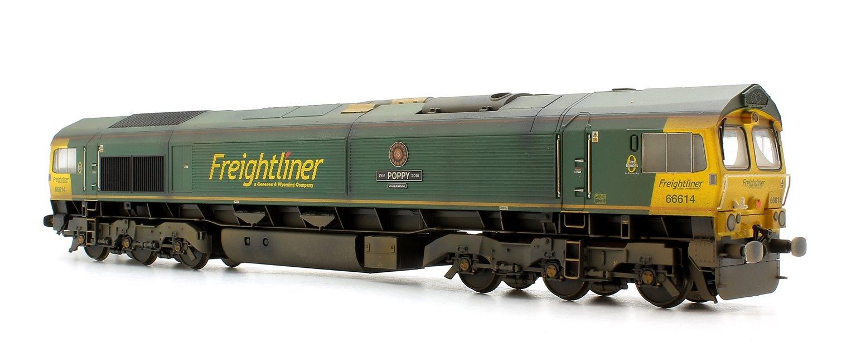 Class 66 614 'Poppy' Freightliner Diesel Locomotive Weathered