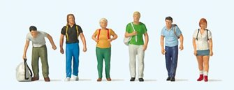 Train Travellers With Rucksacks Figure Set (6)