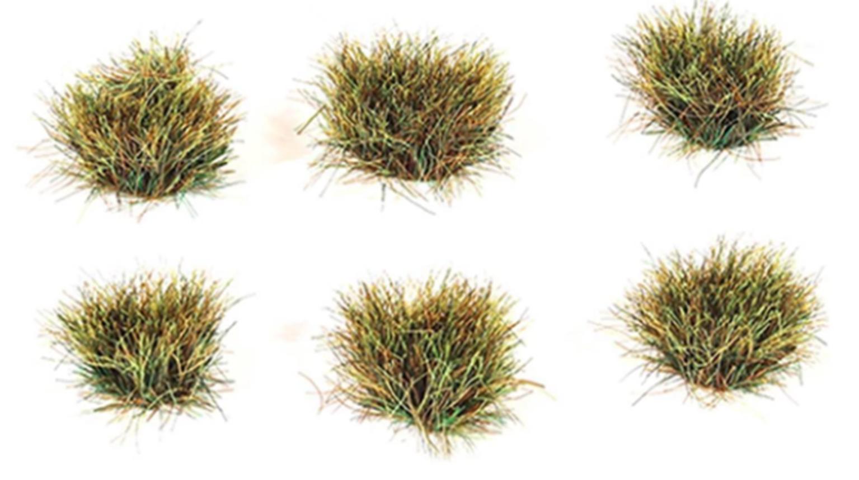 10mm Self Adhesive Autumn Grass Tufts