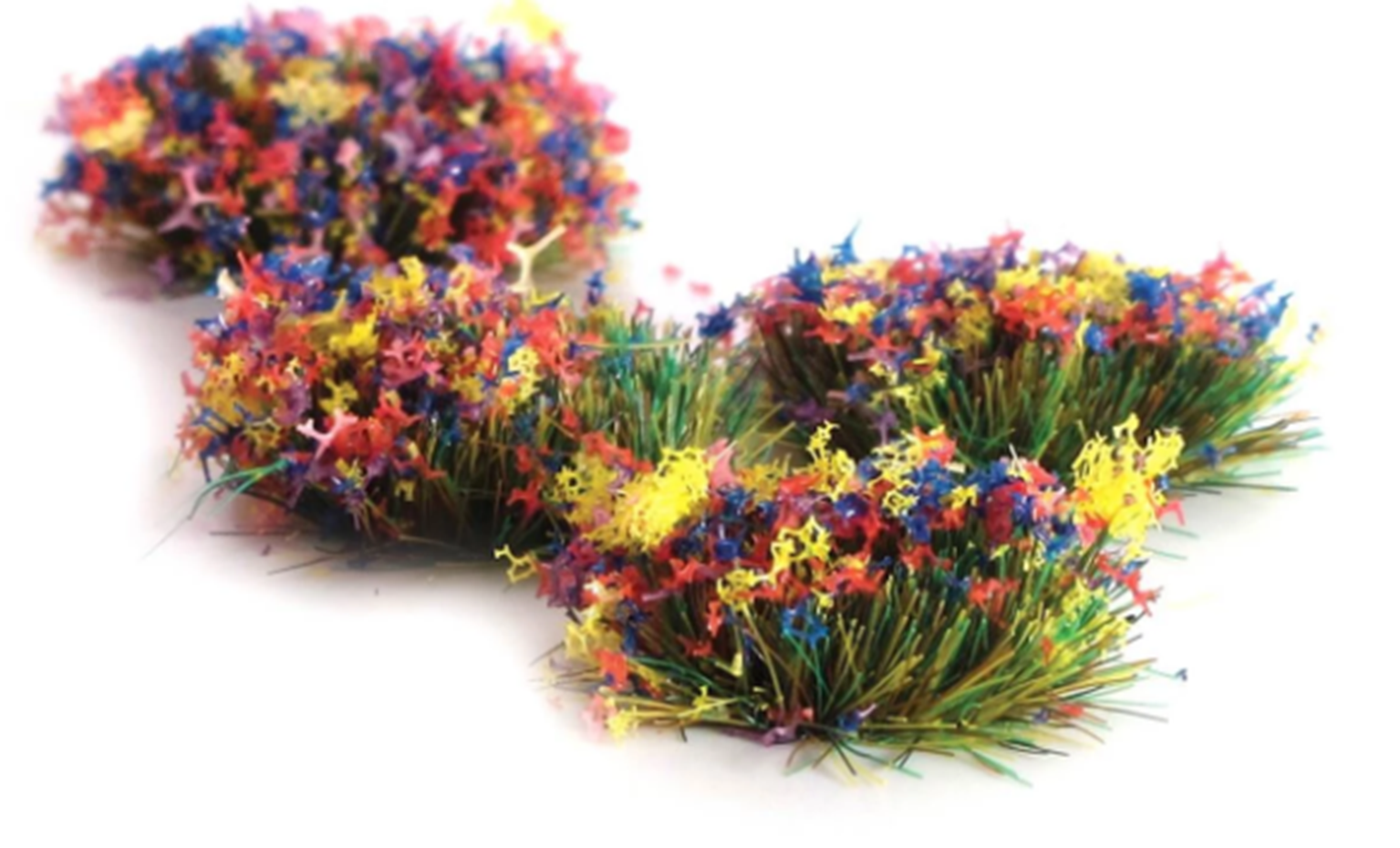 4mm Self Adhesive Grass Tufts with Flower