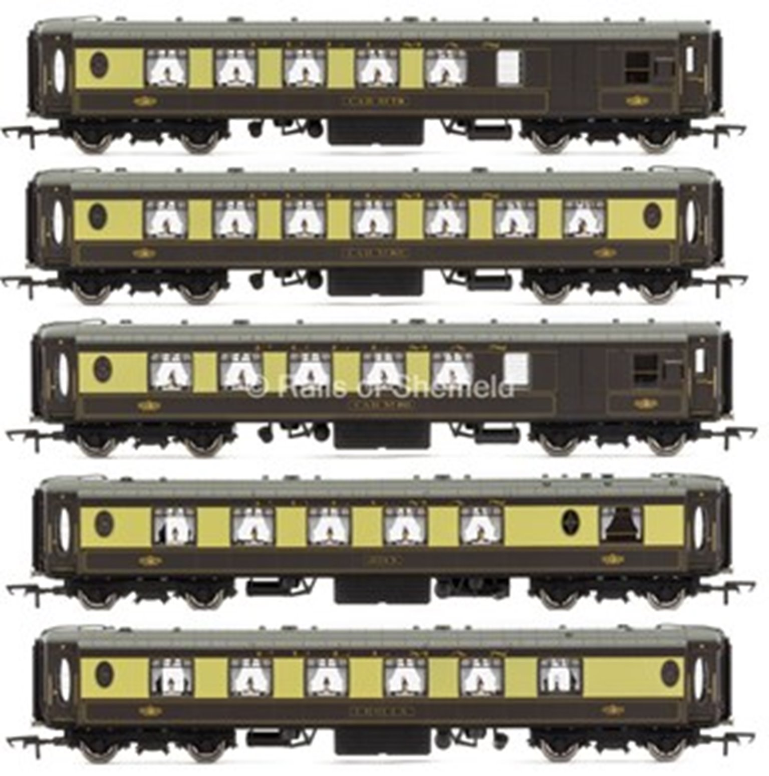 Set of 5 All Steel K Type Pullman Car Coaches