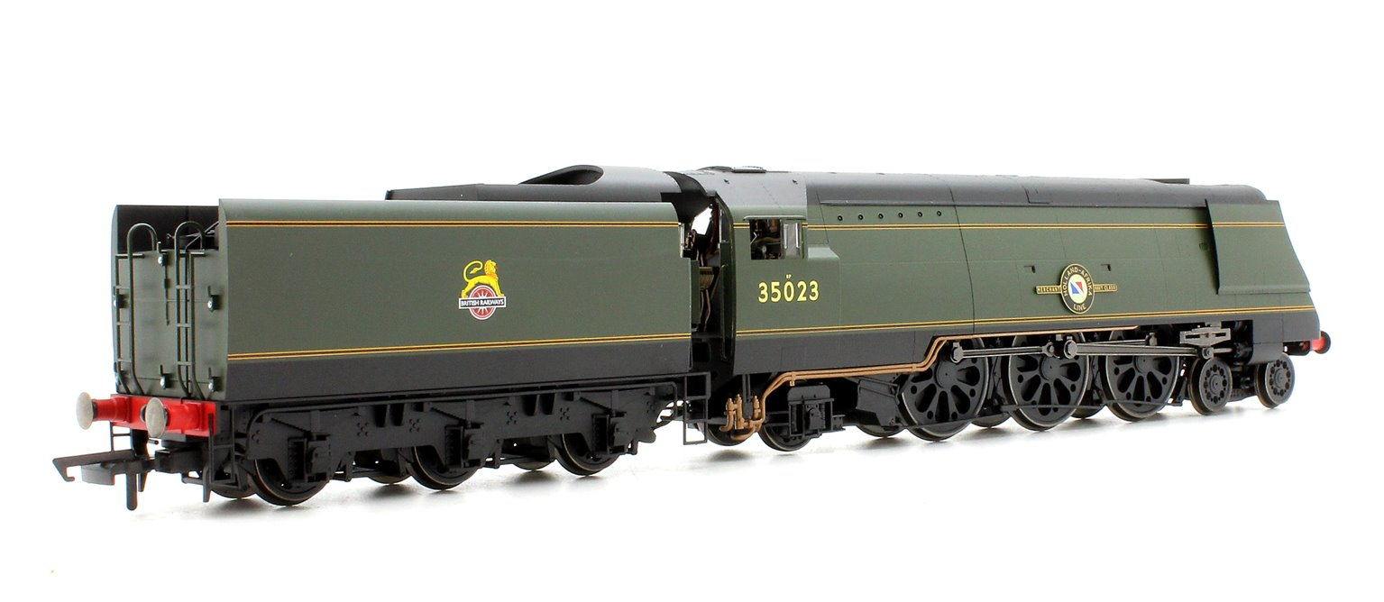 BR 4-6-2 'Holland-Afrika Line' '35023' Merchant Navy (Un-Rebuilt) - BR Early with TTS Sound